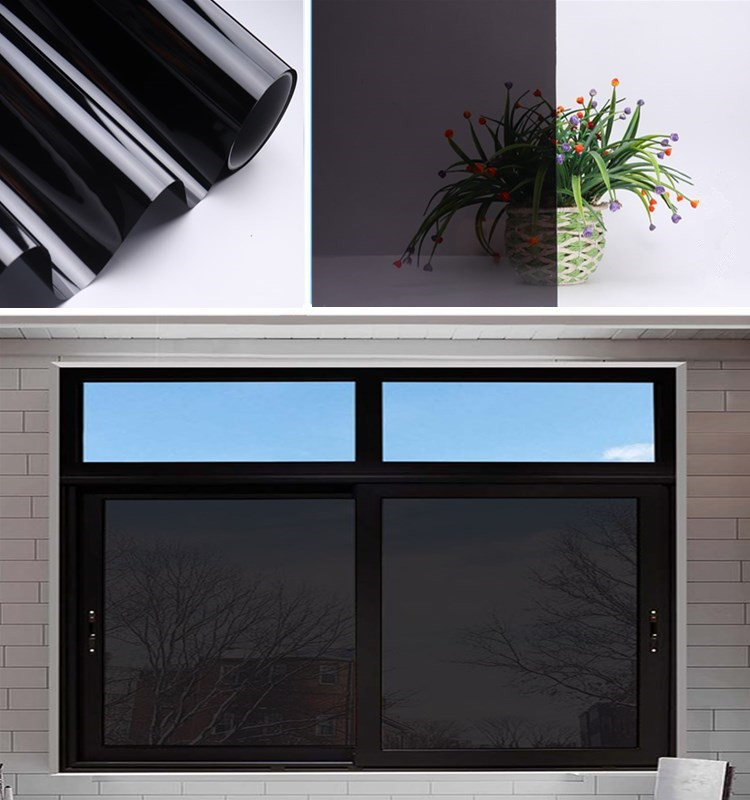 Stained Glass Tinting SUNICE Black Glass Tint Window Sticker Glass Film Transparent two way Solar Film House Sun Shade 90x300cm|Decorative Foil & Tattoos| |  - title=