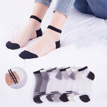 Woman Short Lace Socks Lady Ankle Socks Female Summer Transparent Socks spring and summer flamingo and fox series woman cotton lovely socks painting lady female boat socks short ankle women socks