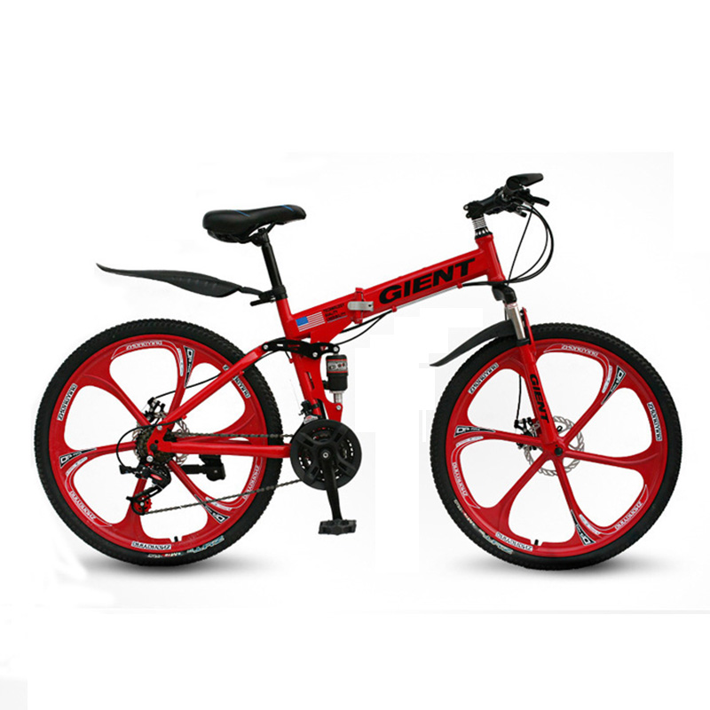 Mountain Folding Bike Bicycle Five Knife 21 Speed 26 Inch Double Shock Absorption Shift One Wheel Adult Men and Women|Bicycle| |  - title=