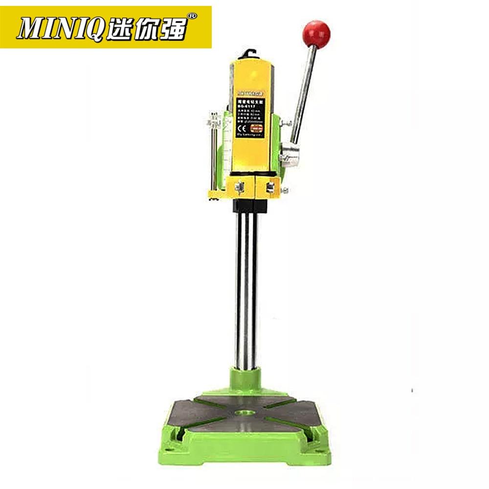 MINIQ BG6117 Bench Drill Stand/Press Mini Electric Drill Carrier Bracket 90 Degree Rotating Fixed Frame Workbench Clamp
