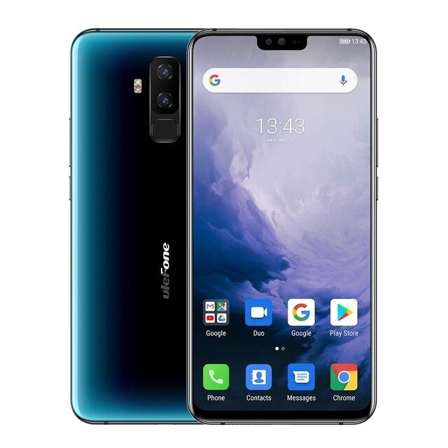 "Ulefone T2 Android 9.0 Mobilofoon 6.7 ""FHD + Screen MT6771T Helio P70 Octa Core 6GB + 128GB NFC Gezicht ID Draadloze Lading Smartphone"