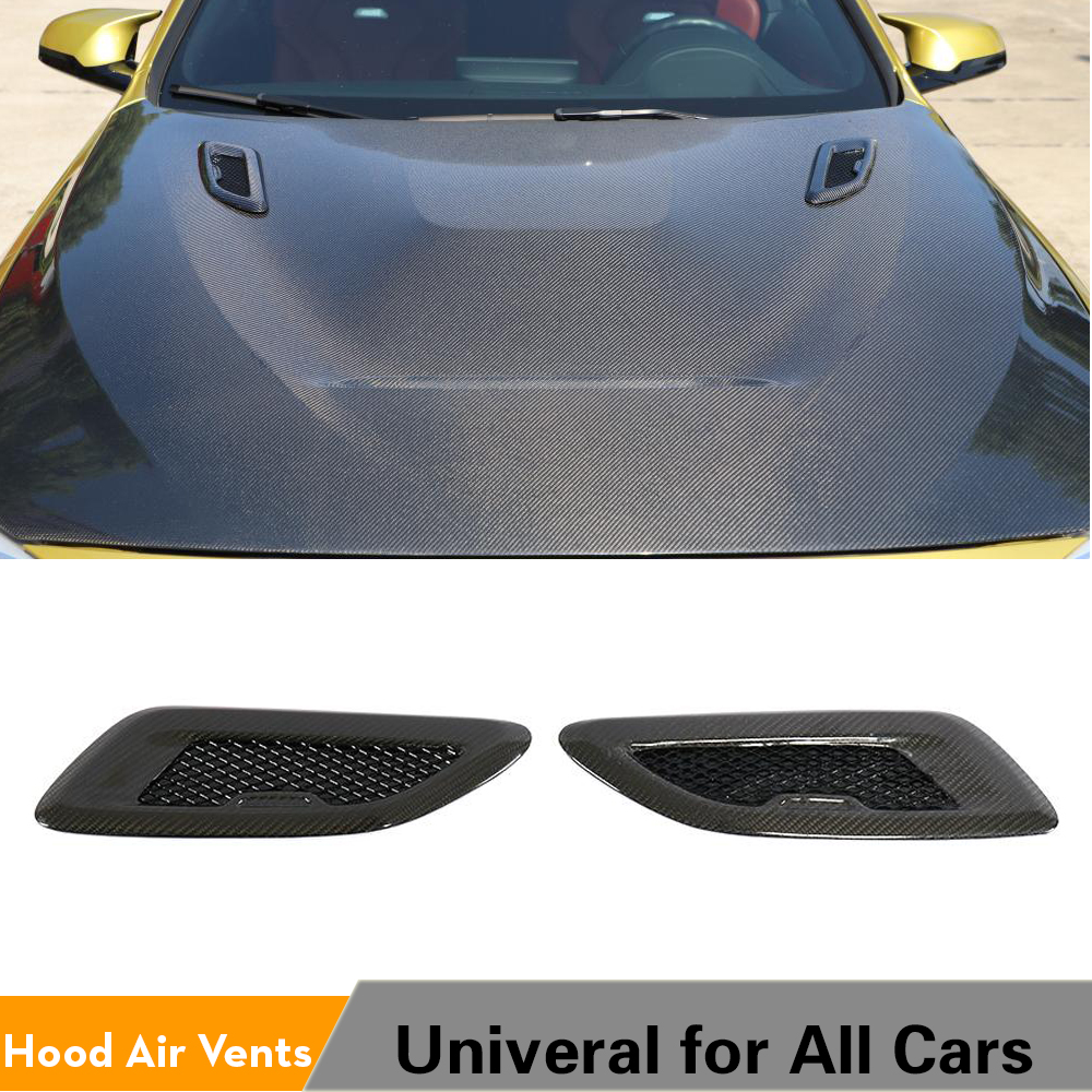 Universal Carbon Fiber Hood Bonnet Air Vents for <font><b>BMW</b></font> F80 F82 F83 E46 <font><b>E90</b></font> For Audi A3 A4 A5 S3 S4 S5 Benz Accessories image