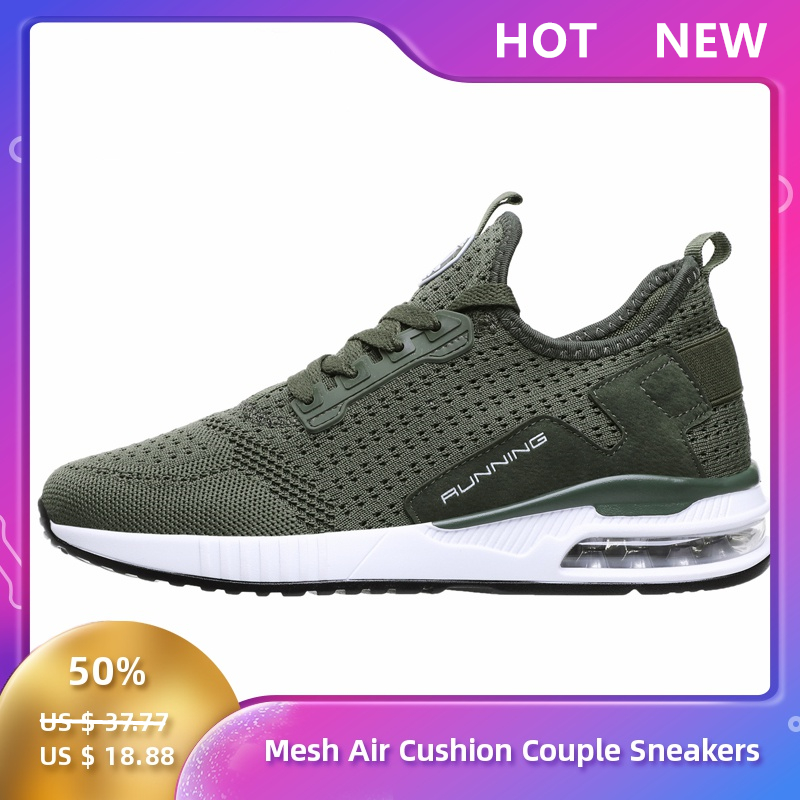 Hemmyi 2019 Couple Mesh Sneakers Men And Women Basket Femme Air Cushion Sport Shoes Men Outdoor Gym Running Shoes Dropshipping