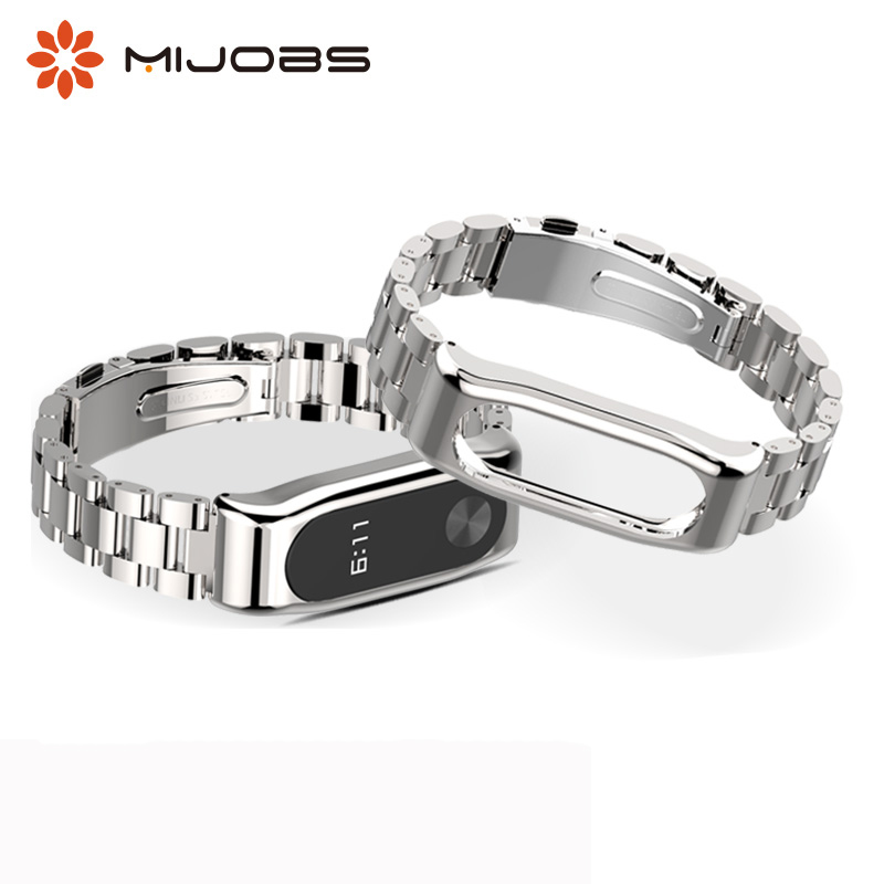 Metal Strap Bracelet Replacement For Xiaomi Mi Band 2 Strap Stainless Steel Smart Watch Accessories Miband 2 Wristband