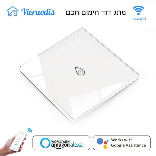 Smart Wifi Boiler Switch Water Heater Switches Voice Remote Control EU standard Touch Panel Timer Outdoor work alexa google home