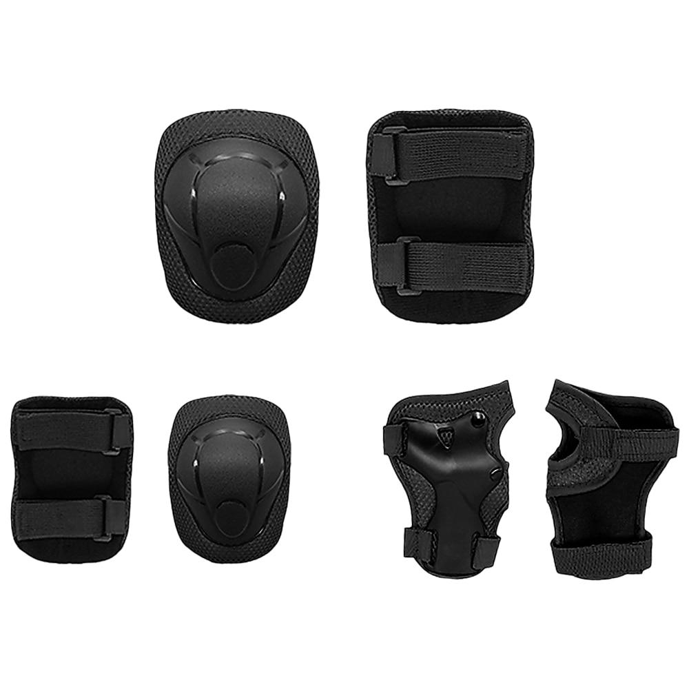 Set of 6 Children Pad Kids Wrist Elbow Knee Protectors Gear Set