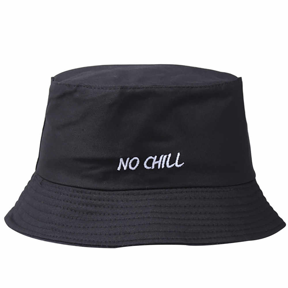Cigarette Personality Hat Fisherman tide NO CHIL Embroidery Pot cap Street chapeu pescador Fashion bucket hat women fishing hats