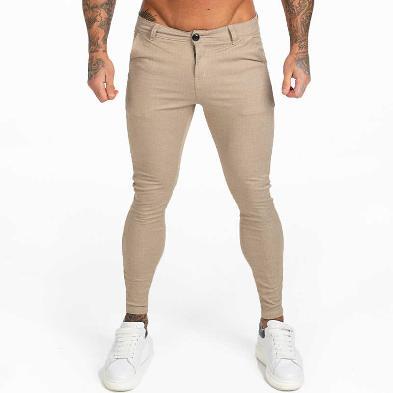 Gingtto Mens Chinos Skinny Khaki Chinos Trousers For Men Stretchy Pants Casual Ankle Tight Fit Street Fashion Zm376 Skinny Pants Aliexpress
