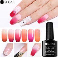 UR SUGAR 7.5ml Thermal Extension Gel Quick Building UV Gel Polish Nail Tips Finger Extend Nail Art Soak Off UV Gel Varnish Poly недорого