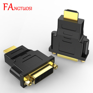 FANGTUOSI DVI to HDMI adapter converter DVI 24 + 5male to HDMI female converter for HDTV LCD computer PC computer DVD