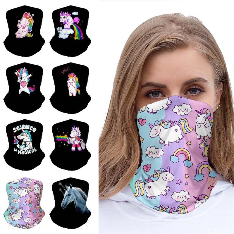 Cartoon Unicorn Fashionable Outdoor Hundred Change Headscarf Original Multifunctional Headwear