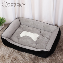 Bone Pet Bed Warm Pet Products For Small Medium Large Dog Soft Pet Bed For Dogs Washable House For Cat Puppy Cotton Kennel Mat