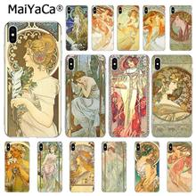 MaiYaCa Art โปสเตอร์ ALPHONSE MUCHA สำหรับ iPhone 11 Pro 11Pro MAX 6S 6plus 7 7plus 8 8 PLUS X XS MAX 5 5S XR 10(China)