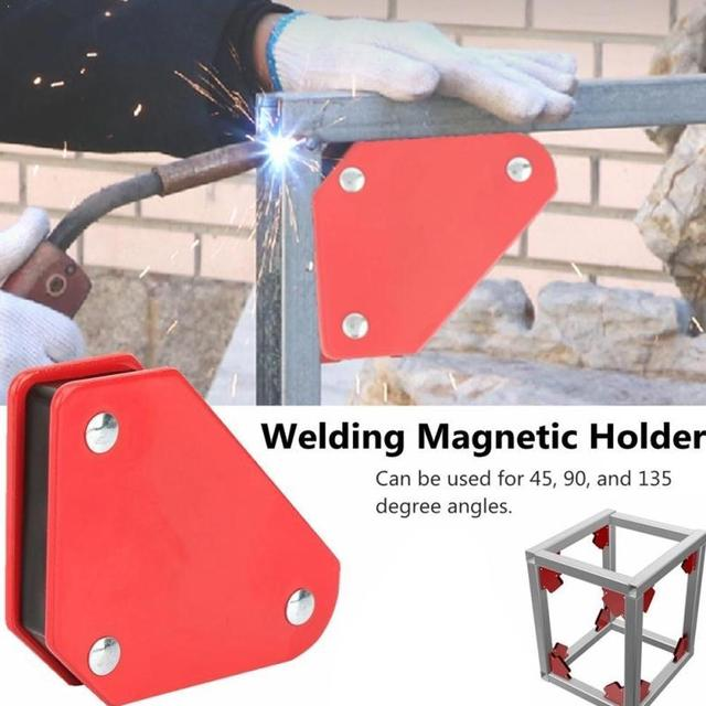 1pcs Welding Magnetic Holder Strong Magnet 3 Angle Arrow Welder Positioner Power Soldering Locator Tool Auxiliary supplies