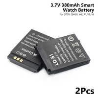 2019 Promotion 2Pcs/Lot Lq-s1 3.7v Smart Watch Dz09 Battery 380mAh Li Polymer Battery For Smart Watch DZ09 QW09 W8 A1 V8 X6
