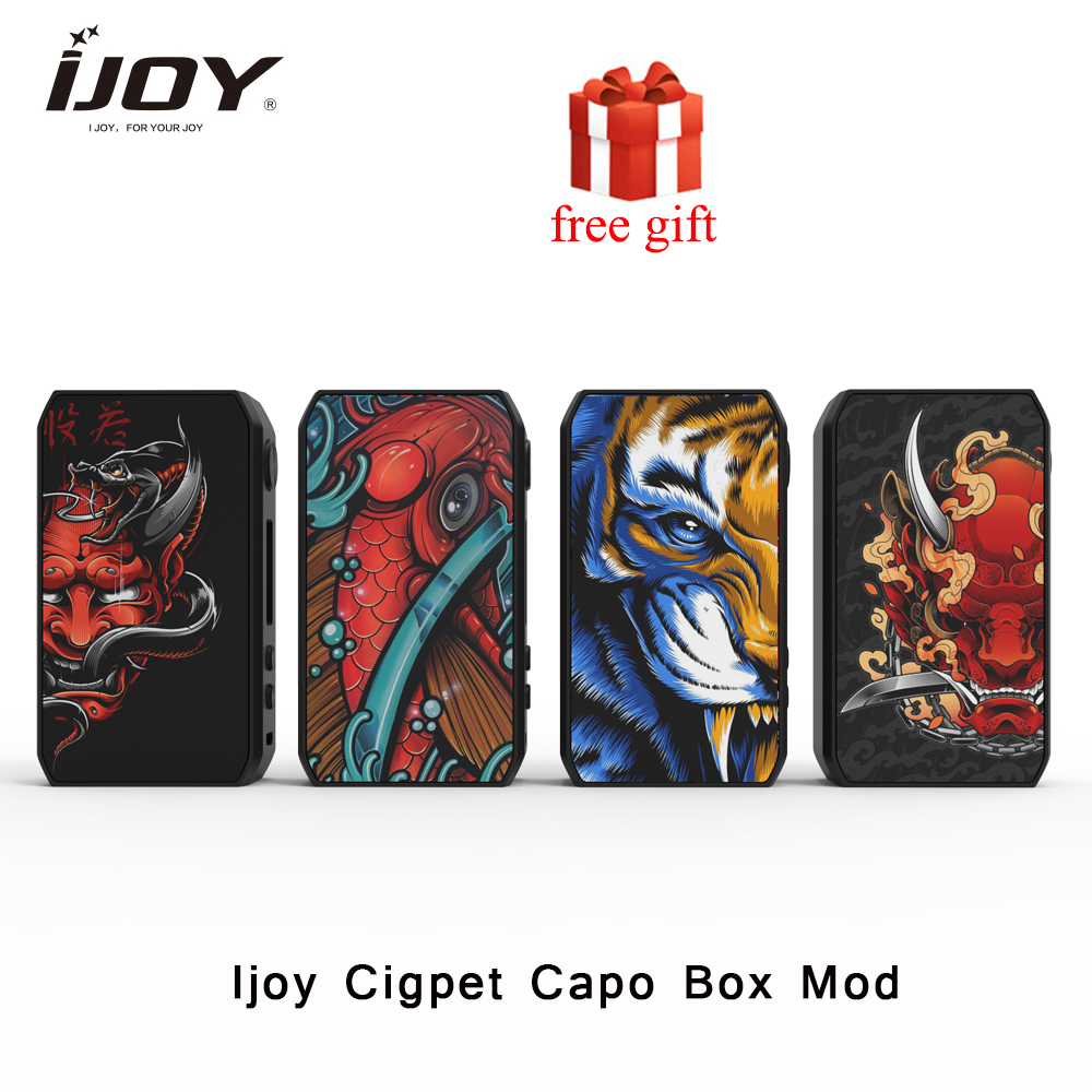 IJOY Cigpet Capo Box <font><b>MOD</b></font> 126w 126w powered by dual <font><b>18650</b></font> batteries <font><b>vape</b></font> <font><b>mod</b></font> VS drag 2/Dovpo m vv image