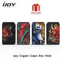 Ijoy cigpet capo caixa mod 126w 126w alimentado por dupla 18650 baterias vape mod vs arrastar 2/dovpo m vv