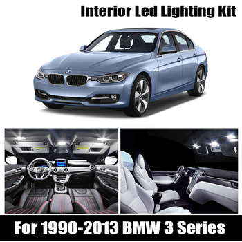 For 1990-2013 BMW 3 Series E36 E46 E90 E91 E92 E93 Perfect White Canbus Error Free LED bulb interior dome map indoor light Kit image