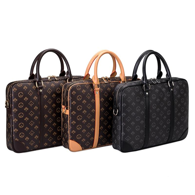 New 2021 Men's Simple Fashion Briefcase Large Capacity Computer Bag Business Casual Portable Diagonal Shoulder Bag