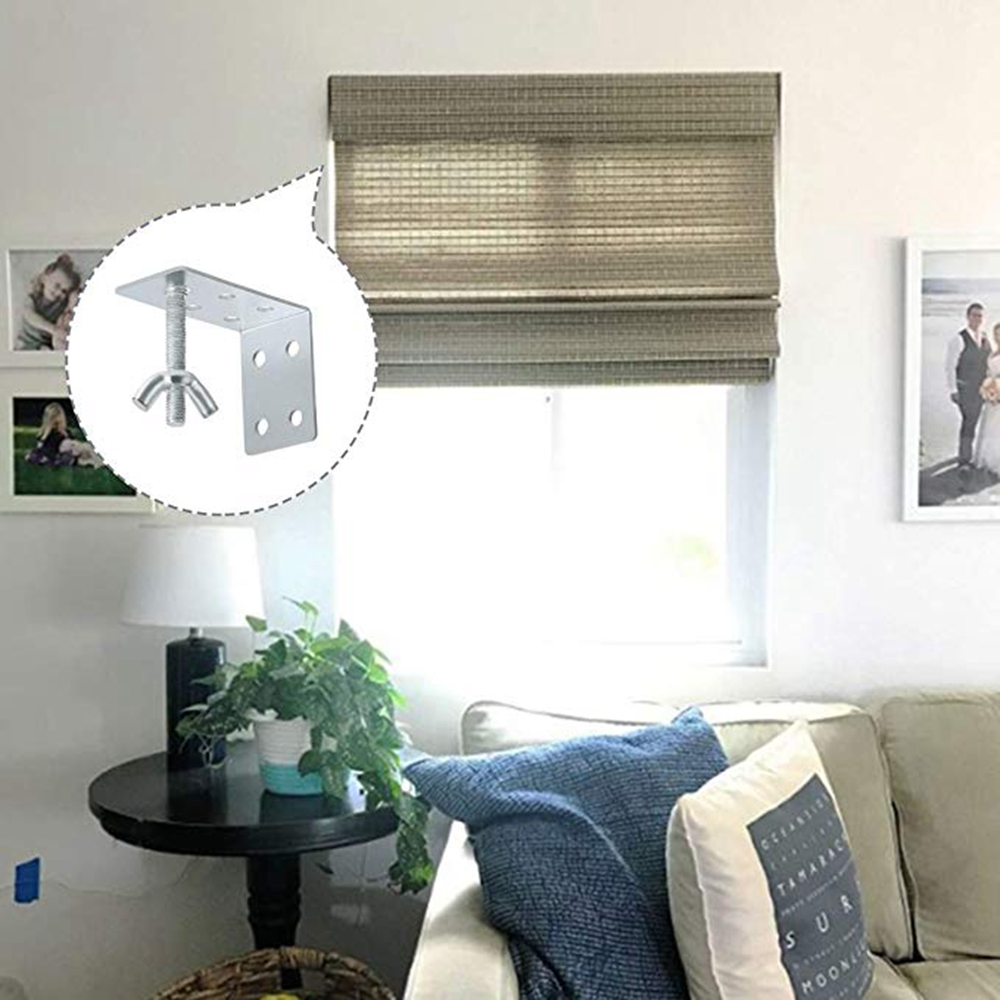 AXLIZER 2PCS Curtain Hardware Roman-Style L-Shaped Sunshade for Roman or Other Shades//Ceiling or Wall Mount