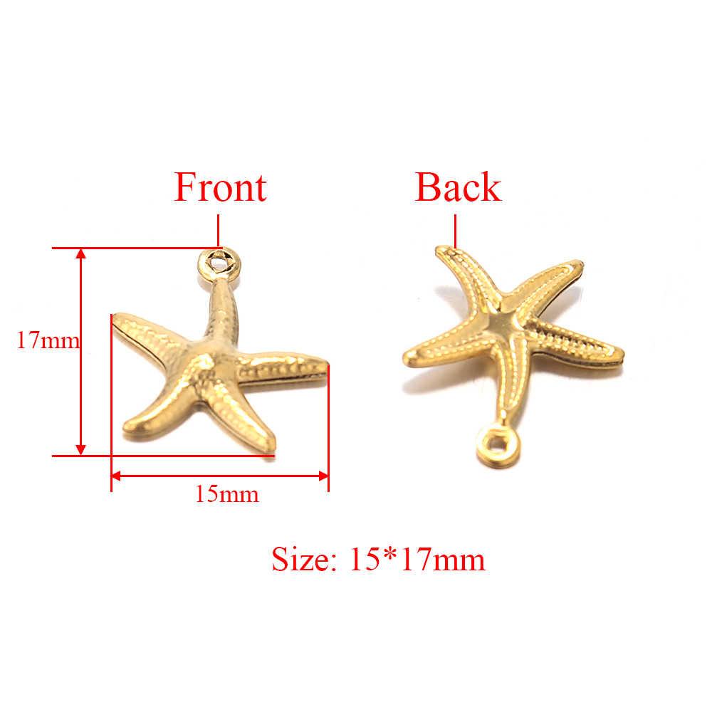 4 Vintage Brass Starfish Stamping Metal Findings 18mm