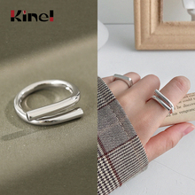 Kinel Real 925 Sterling Silver Vintage Open Stacking Statement Rings Woman Jewelry Gift Punk Cool Fashion Bijoux kinel bague real pure 925 sterling silver vintage layered rings for woman jewelry wedding finger open ring bijoux femme
