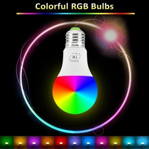Image 5 - 1/10pcs Smart WiFi Glühbirne E27 Led Lampe 5W 7W RGB RGBCW Kühlen Licht Warm lichter Arbeit Mit Alexa Google Home Neue Jahr Lichter