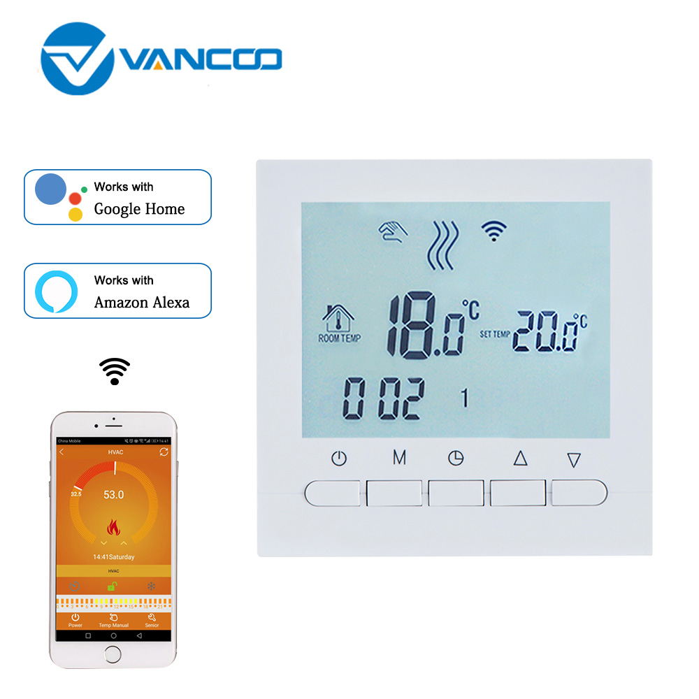Vancoo Wifi Thermostat Gas Boiler Heating Temperature Controller Regulator For Boiler Or Actuator Work With Alexa Google Home