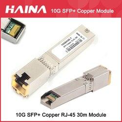 10G SFP+ Copper Module SFP copper RJ45 module SFP+-T 10GBase-T Copper SFP Compatible With Mikrotik Huawei Cisco Dell HP Switches