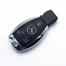 Умный чехол для автомобильного ключа с дистанционным управлением, 3 кнопки, чехол 2000 BGA для Mercedes Benz A B C E Class W203 W204 W205 W210 W211 W212 с логотипом