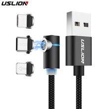 Магнитный кабель USLION 3A Micro usb type C адаптер для быстрой зарядки Micro type-C магнитное зарядное устройство для iPhone 7 samsung S10 Plus xiaomi