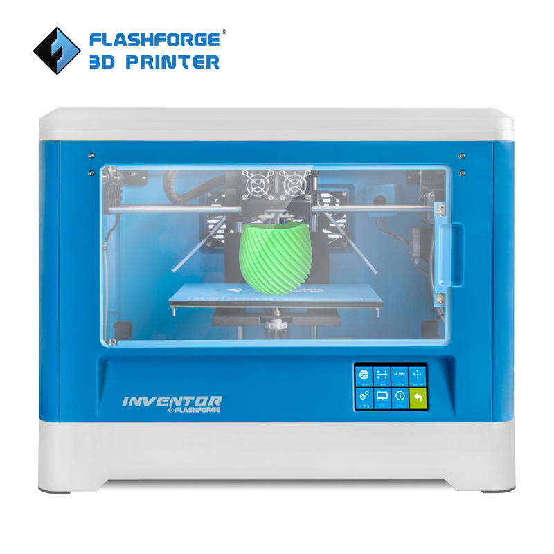Flashforge Inventor 3D Printer with Build-in Camera, Resume Printing, Build Volume 230*250*160 mm Dual color 3d-printer