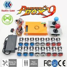 2 игрока Pandora Box 9 комплект копия SANWA Джойстик, Хромированный Светодиодный кнопочный для DIY аркадная Машина домашний шкаф с ручным управлением
