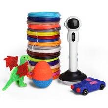3d caneta com 10/20 cores 50/100 medidor de impressão filamento canetas apoio abs pla criativo 3 d lidar com conjunto para desenhar material escolar