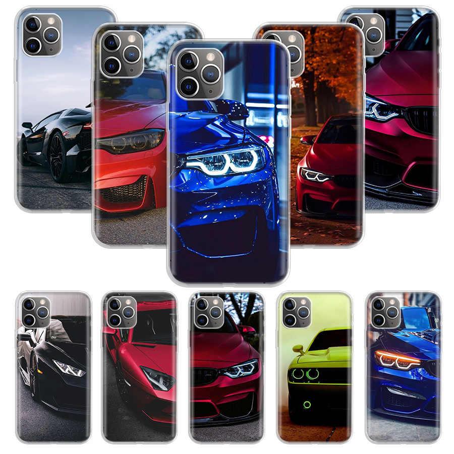Étui pour iPhone 11 12 Mini Pro XS Max XR X 7 8 6 6S Plus 5 5S SE 10, motif BMW bleu, rouge, en silicone, idée cadeau, coque de protection, couverture ...
