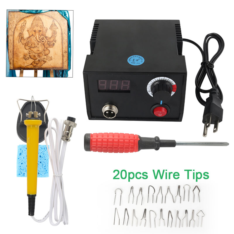 Wood Router Pyrography 110V/220V Pen Sets Adjustable Temperature Wood Machine Gourd Crafts Tool Woodworking Carving Tools