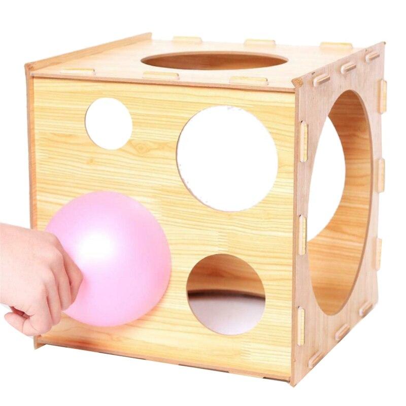9 furos dobrável balão sizer caixa ferramenta de medição estável 2 10 Polegada para festa de casamento de aniversário|Balões e acessórios| |  - title=