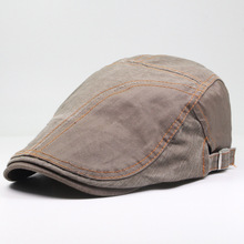 Men Beret Cap Newsboy Hat Breathable Flat Ivy Summer Spring Golf Driving Cotton Accessory
