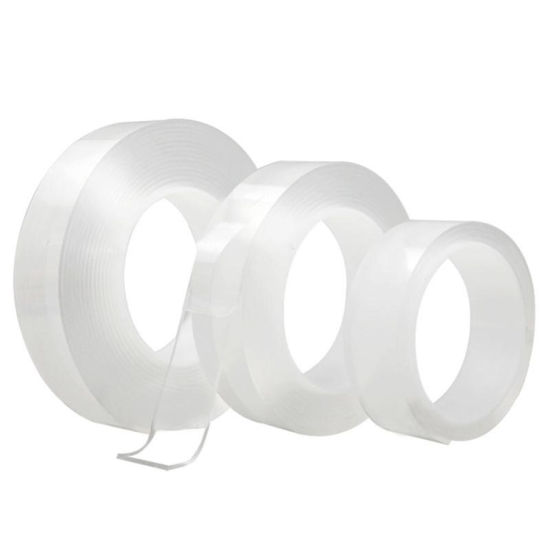 Nano Magic Tape Double Sided Tape Transparent No Trace Acrylic Reusable Waterproof Adhesive Tape Cleanable Home Improvemen