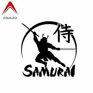 Aliauto Personality Car Sticker Powerful Japanese Samurai Warrior Vinyl Decal for Motorcycle JDM Ford Focus Passat B6,13cm*13cm