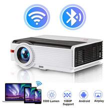 CAIWEI A9 A9AB LED Full Hd z systemem Android projektor WiFi do projekcji w domu CinemaHDMI wideo 200 Cal gra film projektor Proyector tanie tanio Instrukcja Korekta CN (pochodzenie) Projektor cyfrowy 4 3 16 9 200W 1920x1080 dpi 6500 Lumenów 30-300 cali 5001 1-8000 1