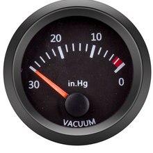 """Вакуумный манометр Универсальный Автомобильный измеритель 12 В автоматический указатель 0 ~ 30 дюймов Hg 2 """"52 мм дымчатый вакуумный счетчик Бел..."""
