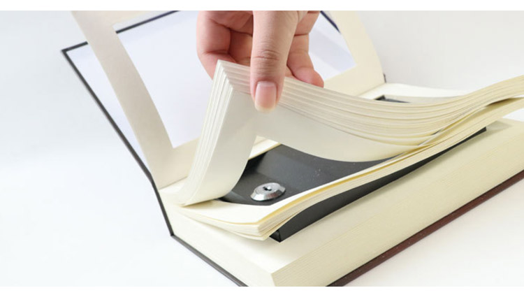Book Safes Key Lock Type High Quality Secret Book Hidden Security Safe Box Metal Steel Simulation Classic Book Style Size M (23)