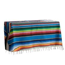 Ethnic Style Beach Blanket Cotton Mexican Indian Handmade Rainbow Blanket Home Tapestry Beach Picnic Mat home practical fashion table flag beach towel mexican style blanket picnic blanket handmade striped tablecloth