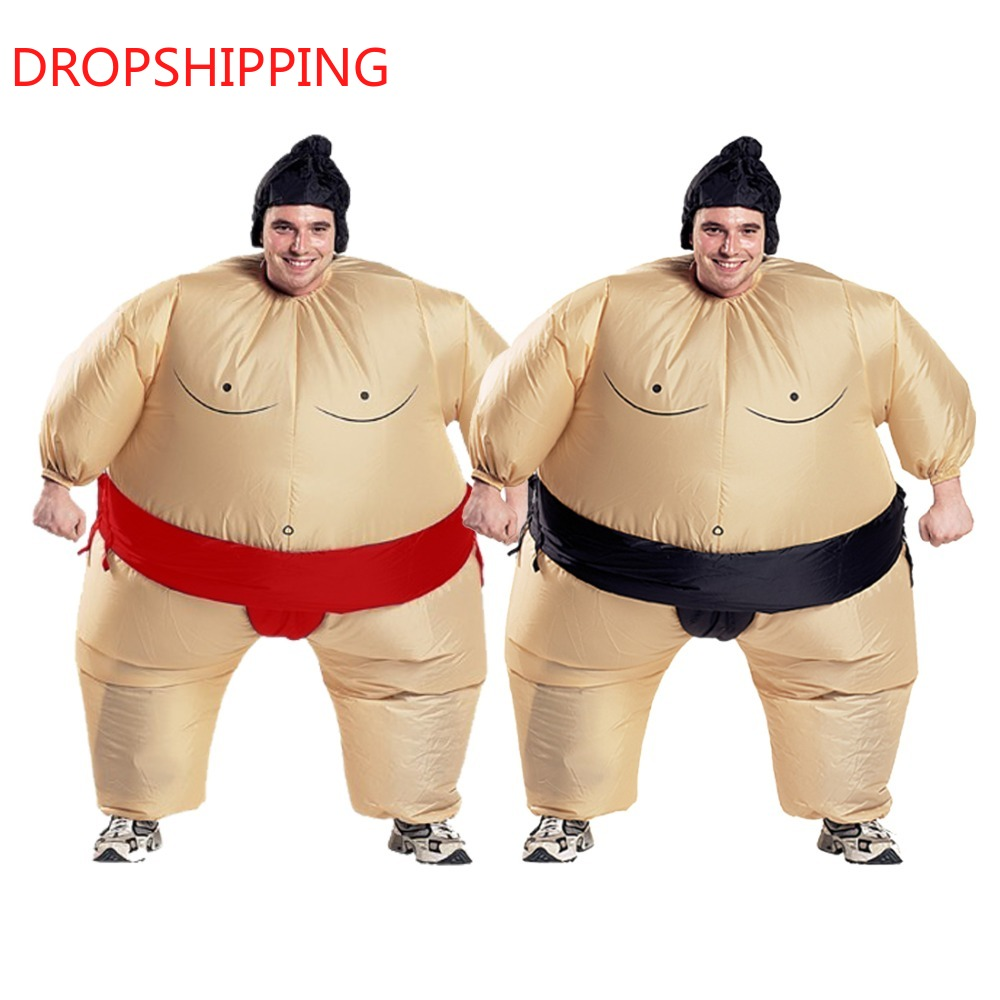 2 Colors Adult Inflatable Sumo Cosplay Costume Halloween For Men Women Fashion Performance Dropshipping