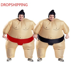 Image 1 - 2 Colors Adult Inflatable Sumo Cosplay Costume Halloween For Men Women Fashion Performance Dropshipping