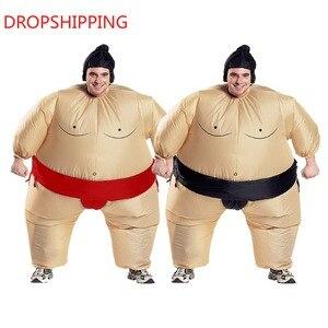 Image 1 - 2 Màu Trưởng Thành Bơm Hơi Sumo Trang Phục Hóa Trang Halloween Dành Cho Nam Nữ Thời Trang Hiệu Suất Dropshipping