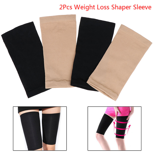 One Pair Neoprene Body Shaper Women's Shapewear Slimming Thigh Belts Sauna Leg Sweating Weight Loss Legs Trainer Fitness 1