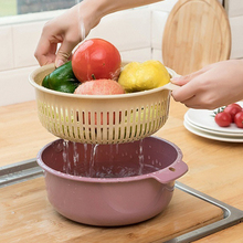 Plastic Double-layer Washing Vegetables…