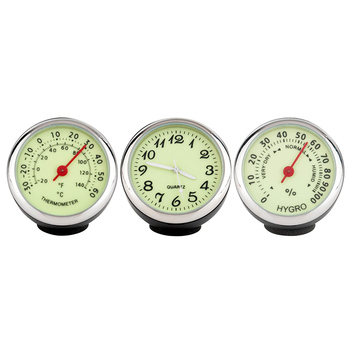 1 шт. мини автомобильные часы цифровой указатель автомобильные светящиеся часы механика кварцевые часы Автомобильный термометр гигрометр ...